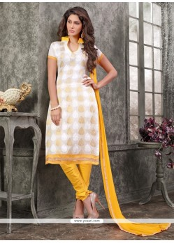 Festal Chanderi Lace Work Churidar Designer Suit