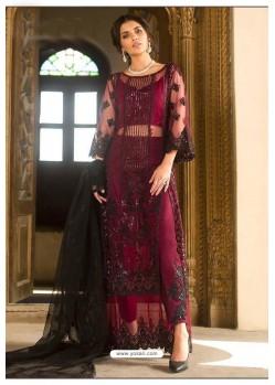 Maroon Latest Georgette Designer Party Wear Pakistani Style Salwar Suit