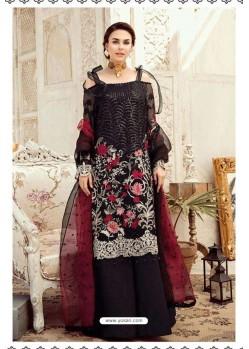 Black Latest Georgette Designer Party Wear Pakistani Style Salwar Suit
