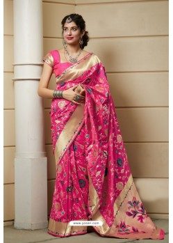 Rani Designer Weaving Banarasi Silk Classic Wear Sari