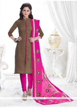 Majesty Jacquard Lace Work Churidar Salwar Kameez