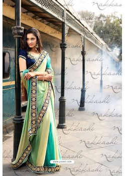 Multi Colour Heavy Embroidered Designer Wear Wedding Sari