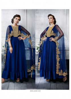 Royal Blue Latest Heavy Designer Party Wear Wedding Salwar Suit