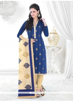 Ideal Blue Churidar Designer Suit