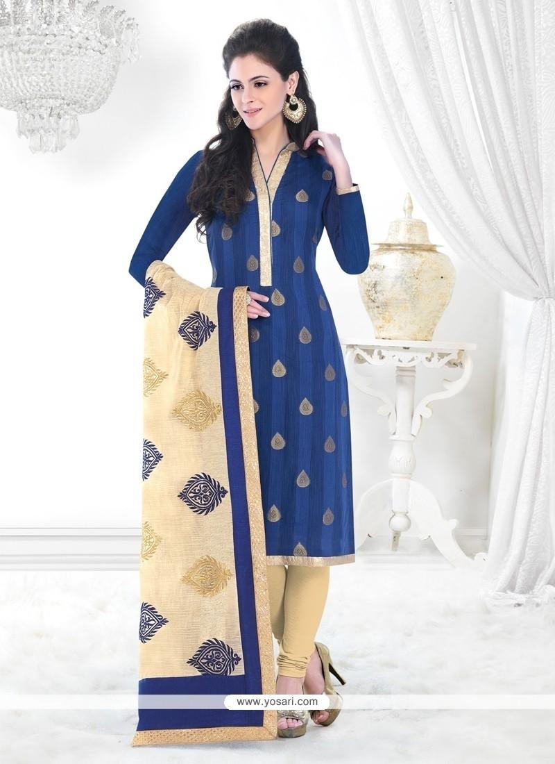 Ideal Blue Churidar Designer Suit