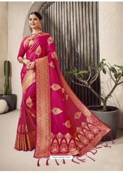 Rani Designer Classic Wear Jacquard Wedding Sari