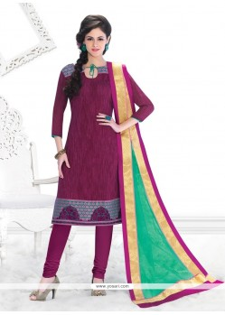Trendy Chanderi Churidar Salwar Suit