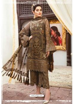 Camel Latest Heavy Designer Party Wear Pakistani Style Salwar Suit