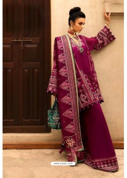 Deep Wine Latest Heavy Designer Party Wear Pakistani Style Salwar Suit