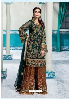 Dark Green Latest Heavy Designer Party Wear Pakistani Style Salwar Suit