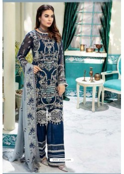 Navy Blue Latest Heavy Designer Party Wear Pakistani Style Salwar Suit
