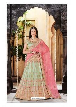 Sea Green Trendy Heavy Embroidered Designer Wedding Lehenga Choli
