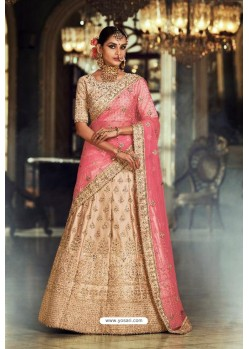 Light Beige Trendy Heavy Embroidered Designer Wedding Lehenga Choli