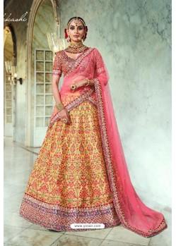 Yellow Trendy Heavy Embroidered Designer Wedding Lehenga Choli