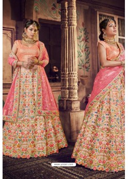 Multi Colour Trendy Heavy Embroidered Designer Wedding Lehenga Choli