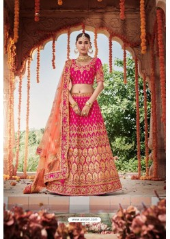Rani Heavy Designer Bridal Wedding Wear Silk Lehenga Choli