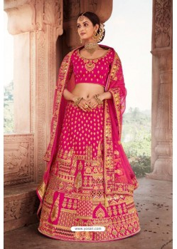 Rani Heavy Designer Bridal Wedding Wear Silk Lehenga Choli