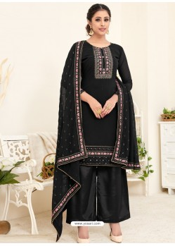 Black Designer Australian Georgette Party Wear Palazzo Salwar Suit