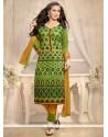 Luscious Chanderi Churidar Designer Suit