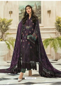 Purple Latest Heavy Faux Georgette Designer Party Wear Pakistani Style Salwar Suit