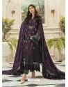 Purple Latest Heavy Faux Georgette Designer Party Wear Pakistani Style Salwar Suit