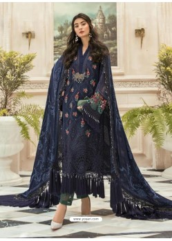 Navy Blue Latest Heavy Faux Georgette Designer Party Wear Pakistani Style Salwar Suit