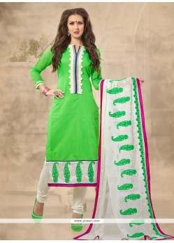Prominent Chanderi Churidar Designer Suit