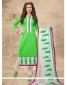Prominent Chanderi Churidar Designer Suit