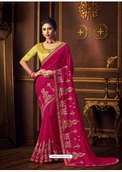 Rani Latest Designer Party Wear Vichitra Silk Sari