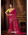 Rani Latest Designer Party Wear Vichitra Silk Sari