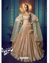 Gold Heavy Embroidered Designer Net Wedding Lehenga Choli