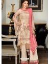 Light Beige Party Wear Designer Georgette Pakistani Suit