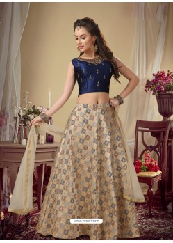 Light Beige Stylish Designer Readymade Party Wear Lehenga