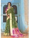 Mehendi Latest Designer Traditional Wear Silk Handloom Sari
