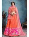 Orange Trendy Heavy Embroidered Designer Bridal Lehenga Choli