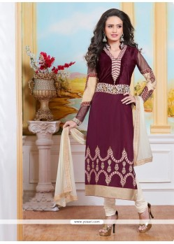 Intrinsic Cotton Resham Work Churidar Designer Suit