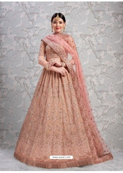 Old Rose Elegant Heavy Embroidered Designer Bridal Lehenga Choli