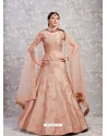 Light Brown Elegant Heavy Embroidered Designer Bridal Lehenga Choli