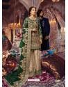 Dark Green Latest Wedding Wear Designer Georgette Pakistani Suit
