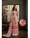 Dusty Pink Designer Pure Viscose Bemberg Georgette Palazzo Salwar Suit