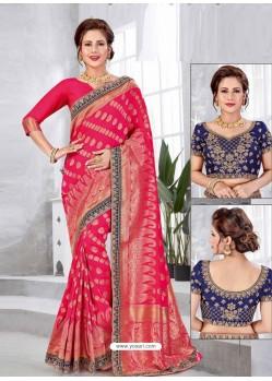 Rani Latest Designer Traditional Party Wear Banarasi Silk Wedding Sari