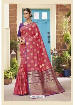 Light Pink Latest Designer Classic Wear Soft Silk Sari