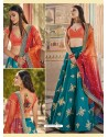 Teal Heavy Embroidered Designer Wedding Wear Lehenga Choli