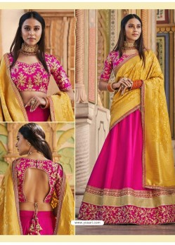 Rani Heavy Embroidered Designer Wedding Wear Lehenga Choli