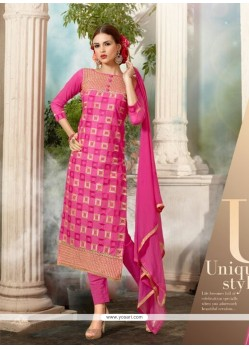 Integral Hot Pink Salwar Suit