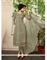 Paramount Cotton Grey Churidar Designer Suit