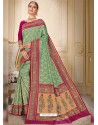Sea Green Designer Traditional Wear Silk Wedding Sari