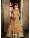 Cream Latest Heavy Designer Party Wear Anarkali Suit