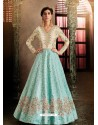 Firozi Latest Heavy Designer Party Wear Anarkali Suit