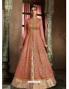 Rust Latest Heavy Designer Party Wear Anarkali Suit